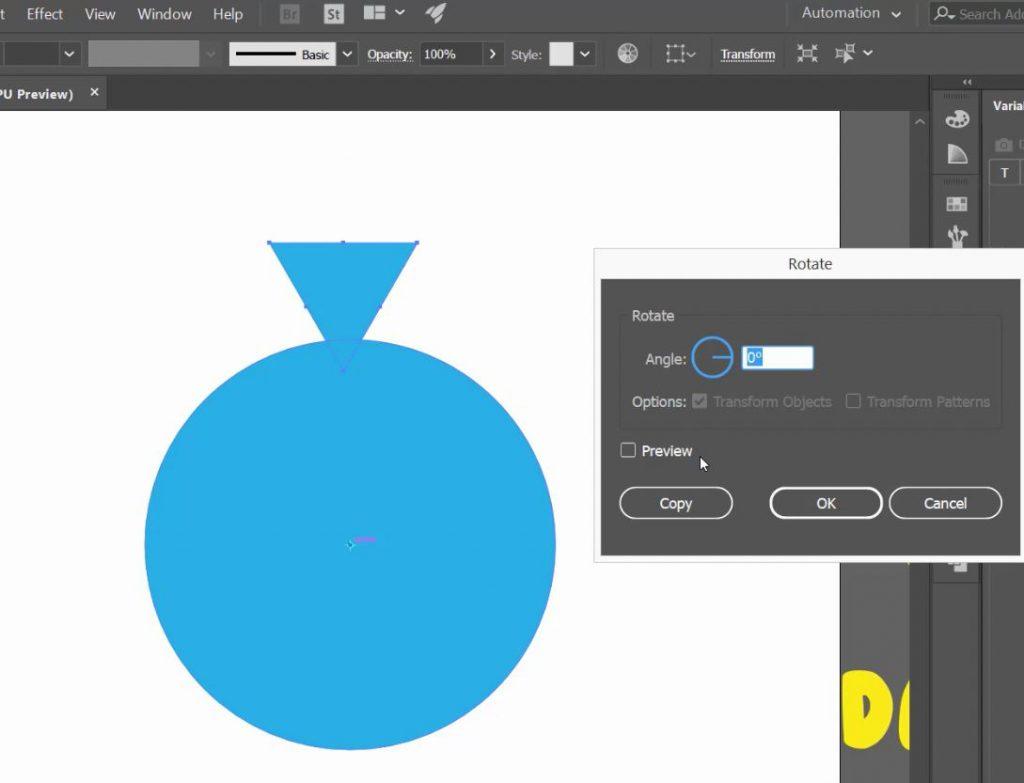 آموزش داپلیکیت یک شکل به دور دایره در adobe illustrator