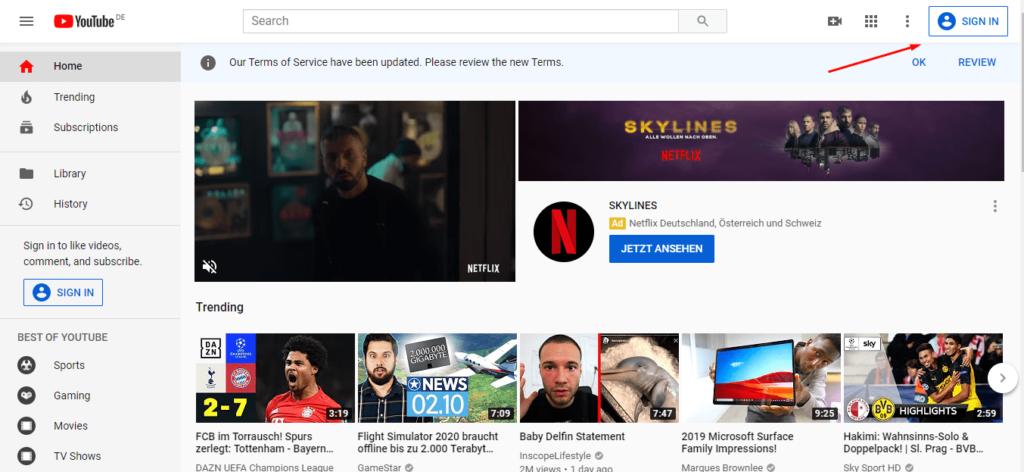 آموزش کار با یوتیوب